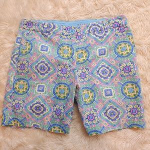 TALBOTS Bermuda Weekend Shorts Paisley Size 4